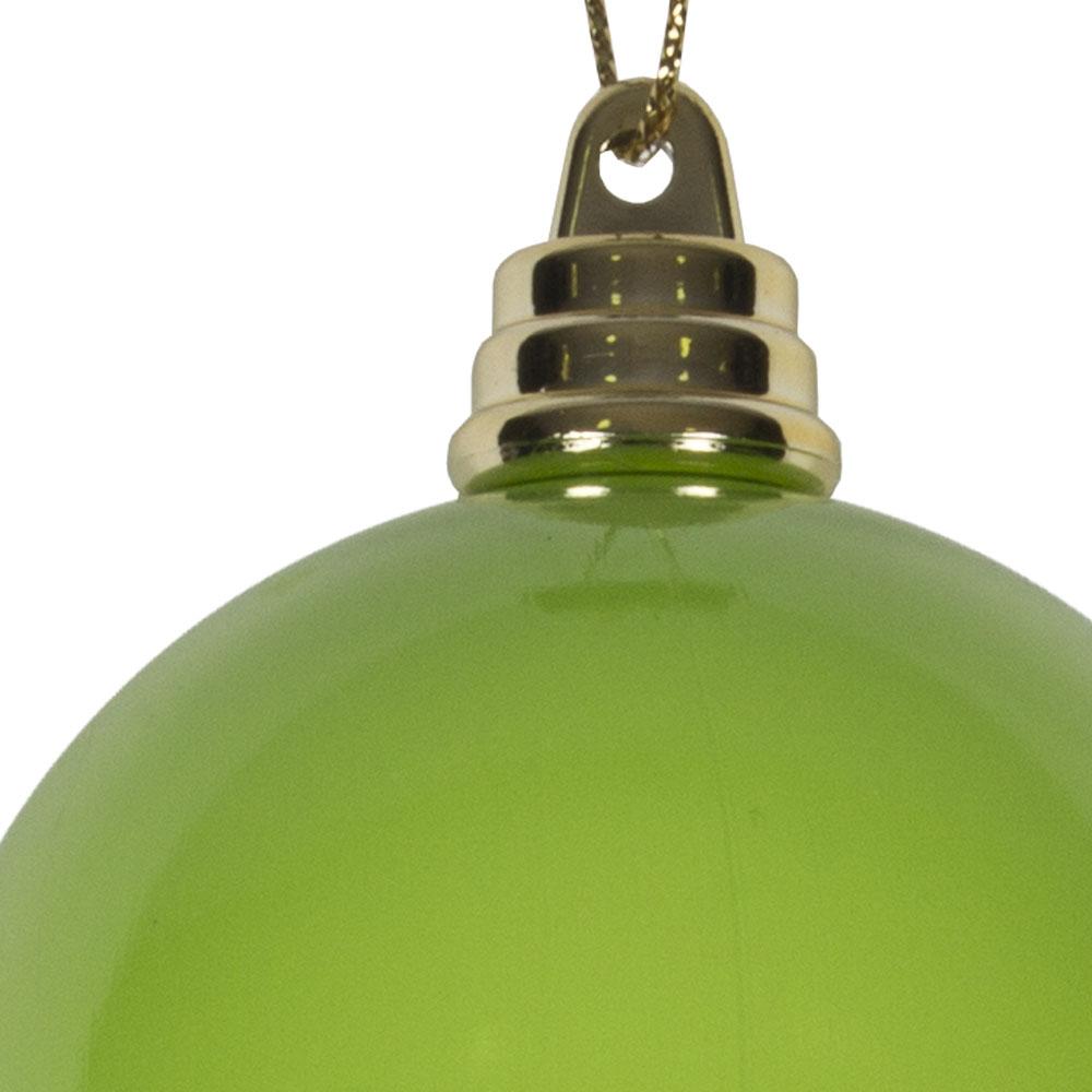 Bright Green Enamel Finish Shatterproof Bauble - 60mm