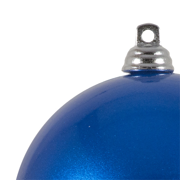 Blue Metallic Finish Shatterproof Bauble - 80mm