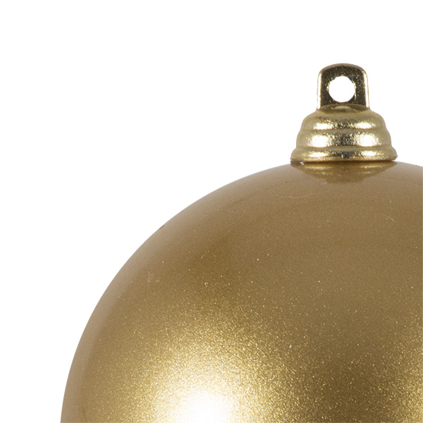 Gold Metallic Finish Shatterproof Bauble - 80mm