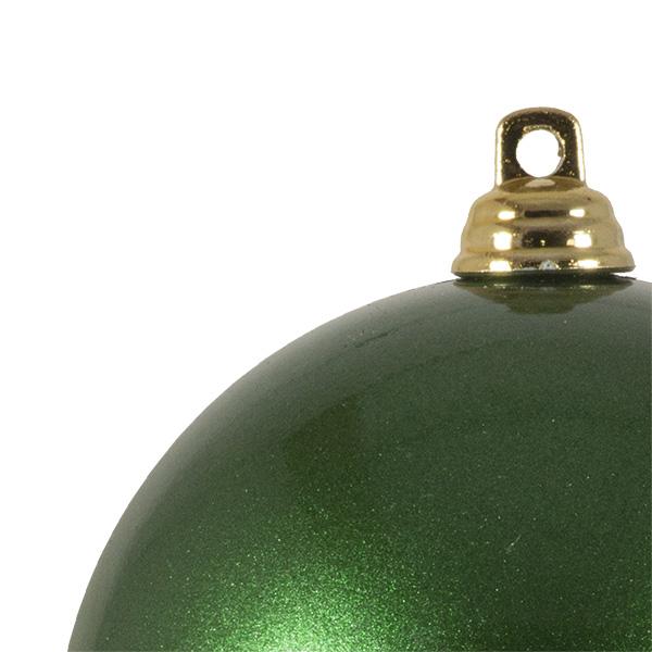 Green Metallic Finish Shatterproof Bauble - 80mm
