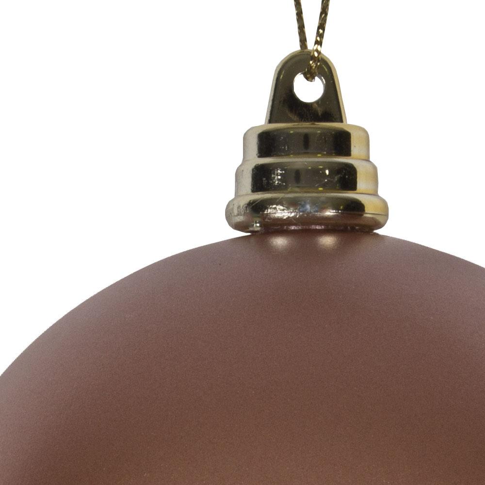 Rose Copper Metallic Finish Shatterproof Bauble - 80mm