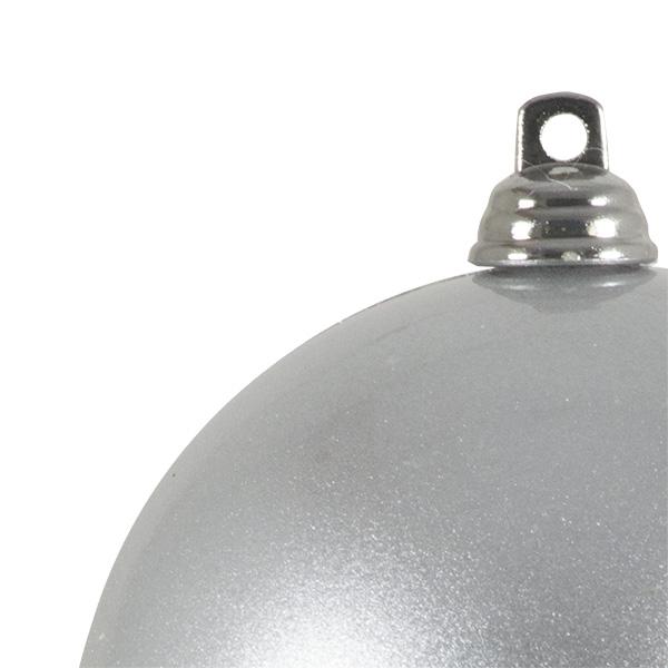 Silver Metallic Finish Shatterproof Bauble - 80mm