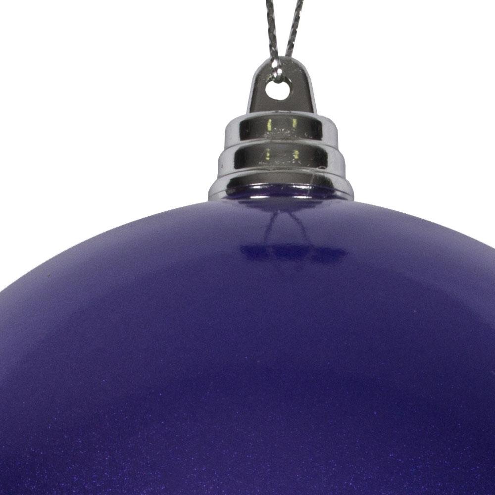 Purple Metallic Finish Shatterproof Bauble - 100mm