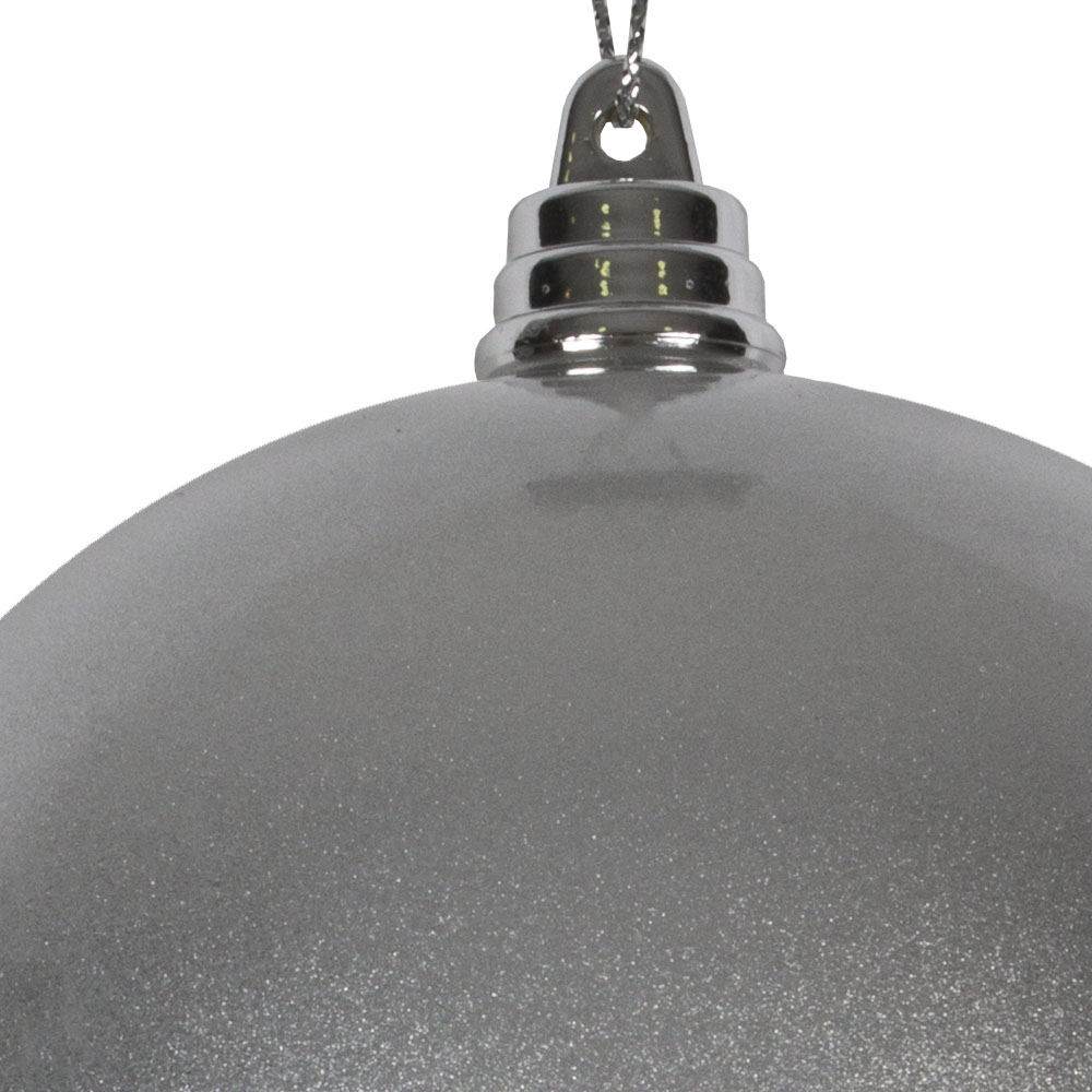 Silver Metallic Finish Shatterproof Bauble - 100mm