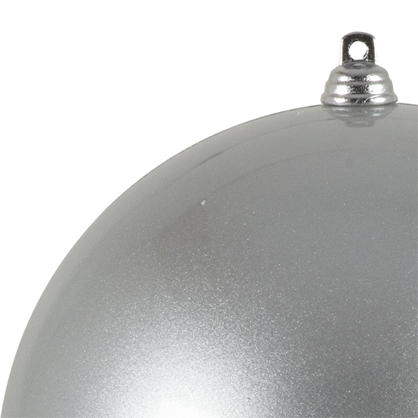Silver Metallic Finish Shatterproof Bauble - 140mm
