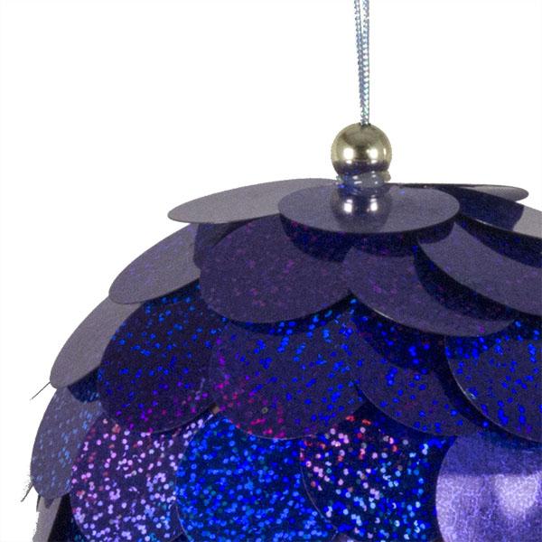 Large Purple Sequin Bauble - 150mm