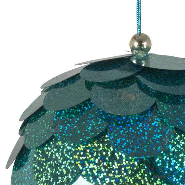 Large Turquoise Sequin Bauble - 150mm