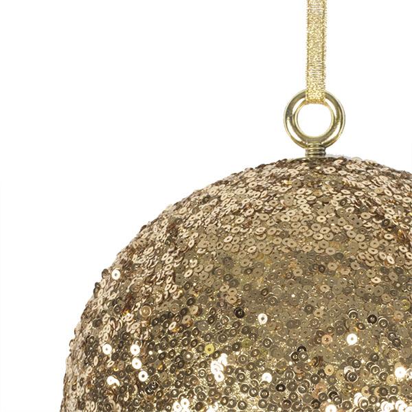 Gold Sequin Ball Hanger - 200mm