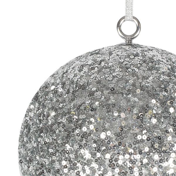 Silver Sequin Ball Hanger - 200mm