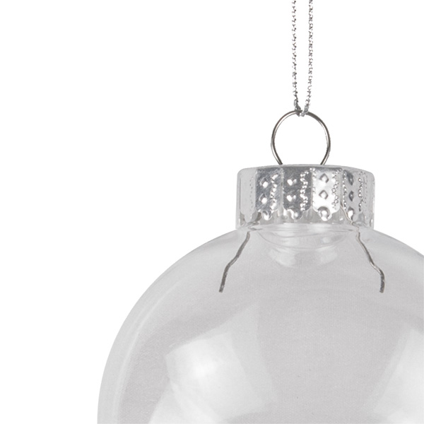 Clear Shatterproof Bauble Range - 80mm Disc