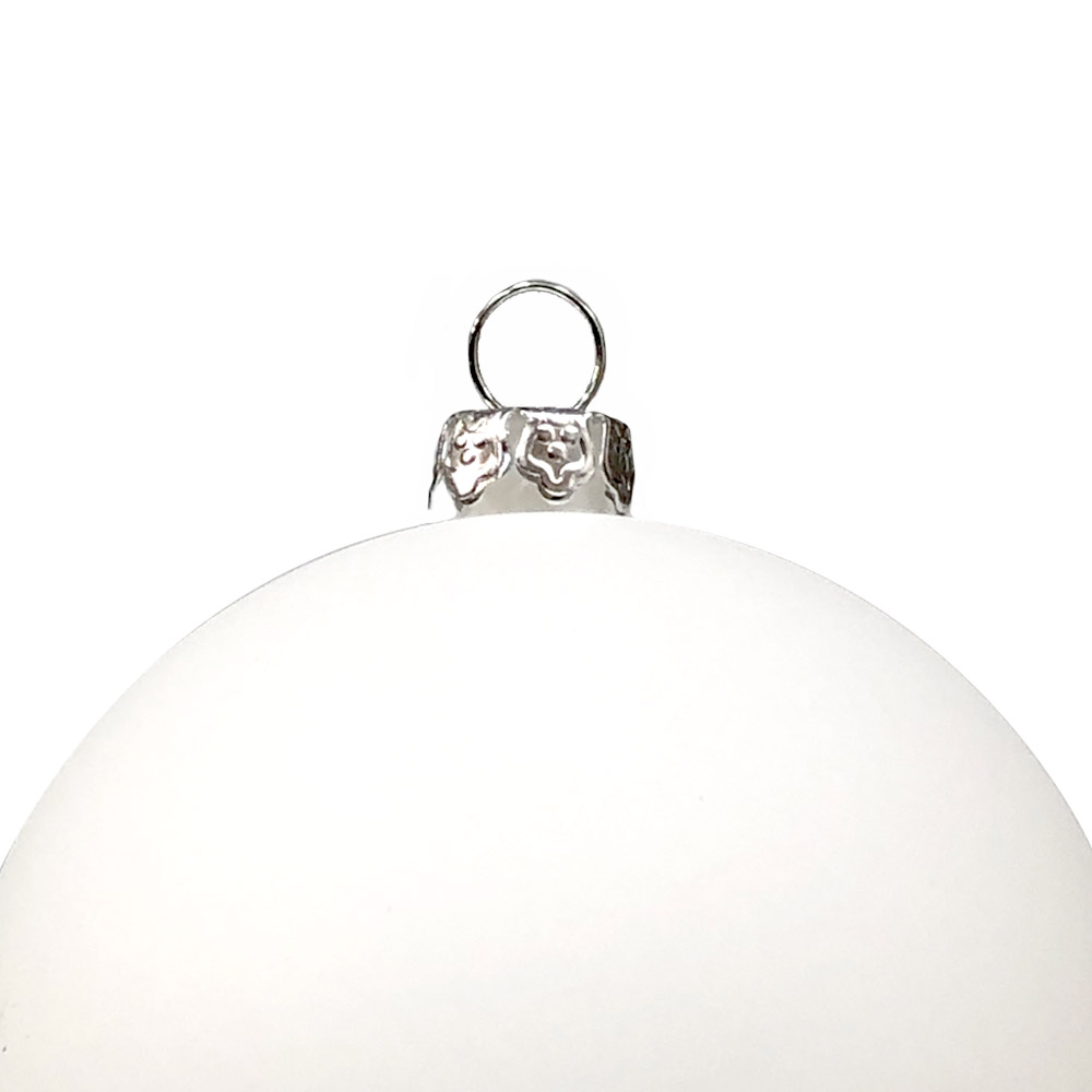 Luxury White Matt Shatterproof Baubles - Pack Of 12 X 70mm