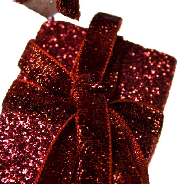 Red And Iridescent Hanging Gift Box Set - 16cm X 5cm