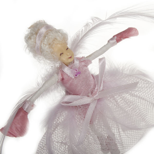 Pink Ballet Fairy Hanging Decoration - 13cm