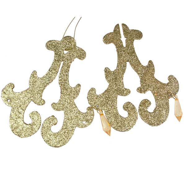 Gold Chandelier Hanging Decoration - 11cm X 11cm X 13cm