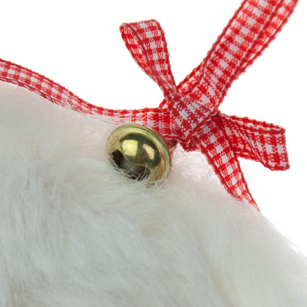 Fluffy White Hanging Heart - 10cm