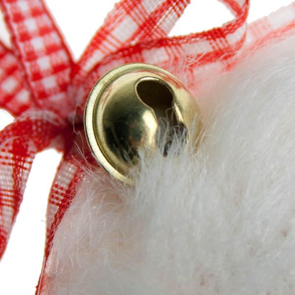 Fluffy White Hanging Teardrop - 10cm