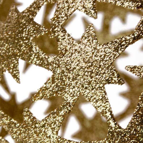 Gold Die Cut Bethlehem Star Decoration - 100mm