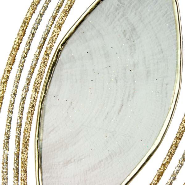 Capiz Droplet Hanging Decoration - 14cm