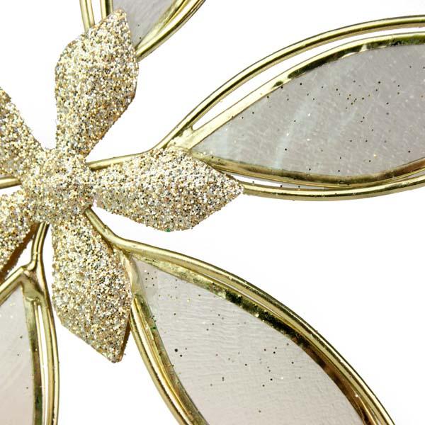 Flower Hanging Decoration With Capiz Shell Petals - 12cm