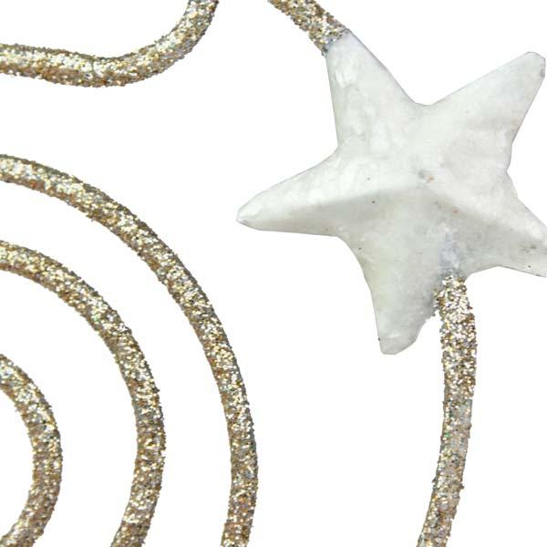 Champagne Gold With Capiz Star Round Decoration - 14cm X 5.5cm