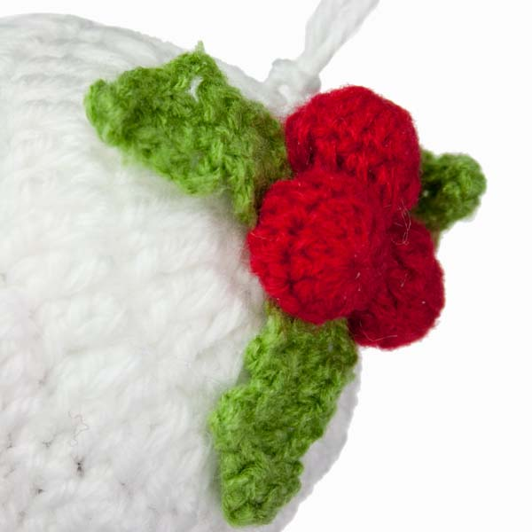Gisela Graham Knitted Fabric Christmas Pudding Decoration - 9cm (022-22670)