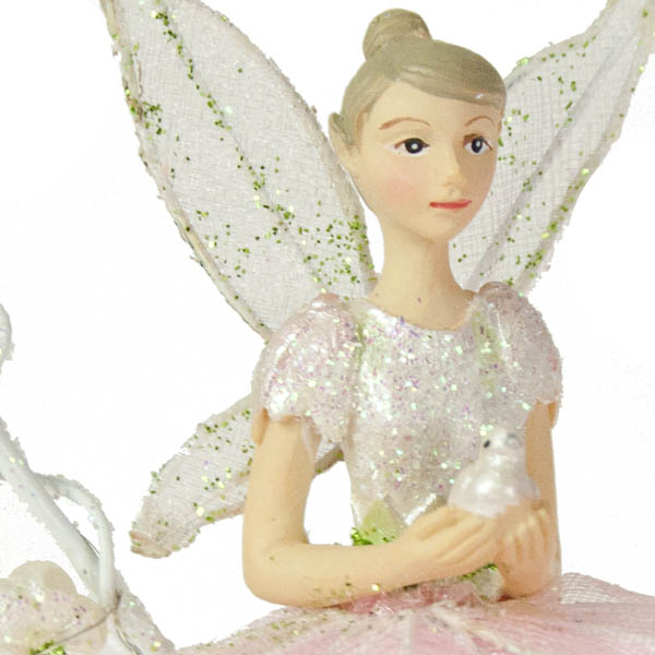 Gisela Graham Resin Flower Fairy In A Heart Ring - 8cm