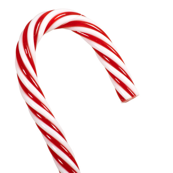 Red & White Candy Cane Hanging Decoration - 30cm