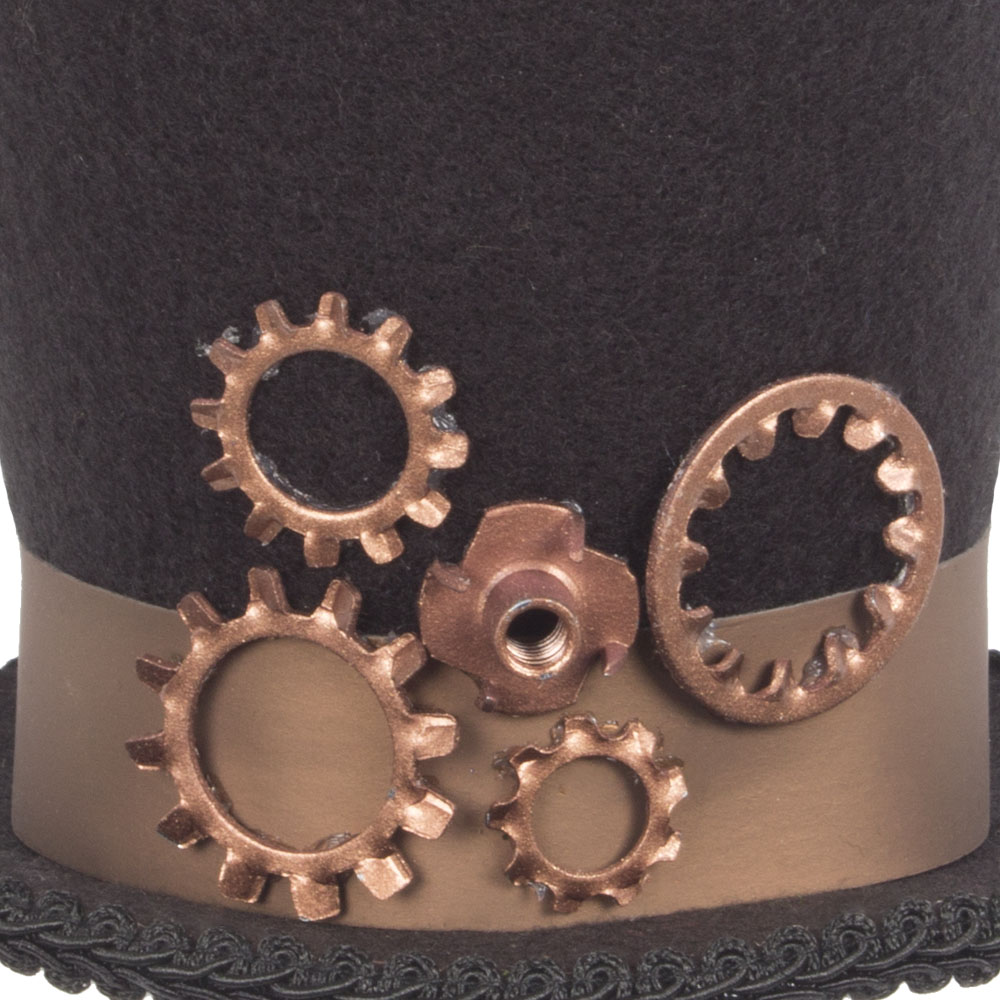 Steampunk Top Hat Hanging Decoration - 10cm