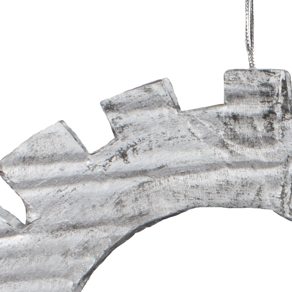 Silver & Pewter Steam Punk Cog Hanging Decoration - 21cm