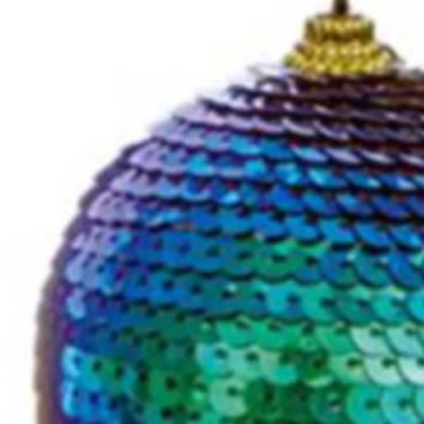 Blue & Green Sequin Ball Hanging Decoration