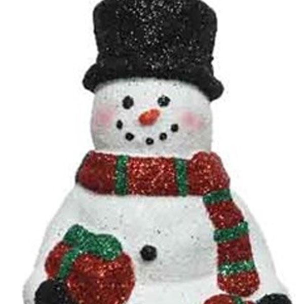 Glitter Finish Snowman Hanging Decoration