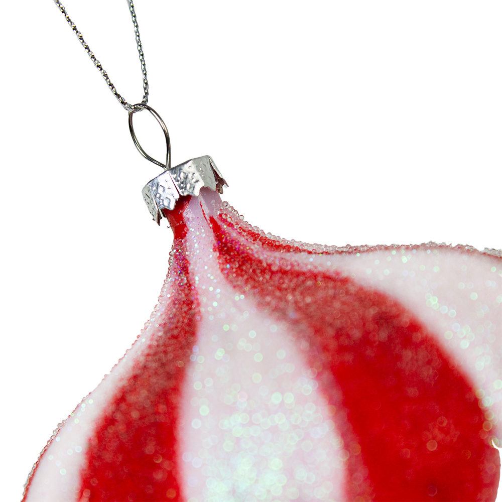 Red & White Candy Striped Hanging Decoration - Onion