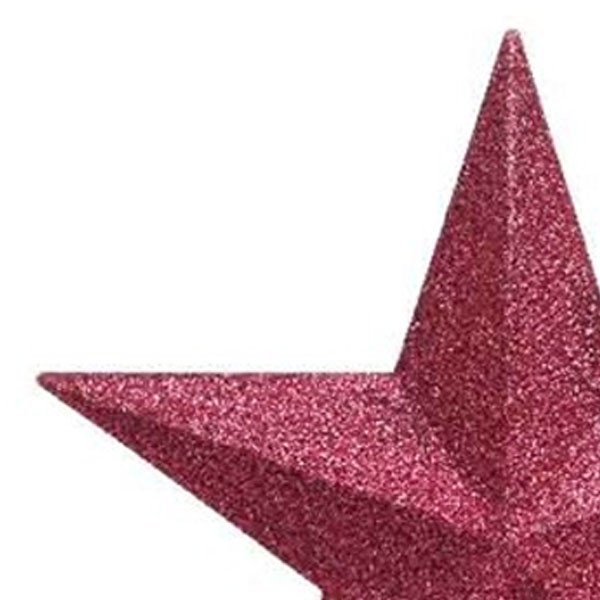 Bubblegum Pink Shatterproof Tree Top Glitter Star - 19cm