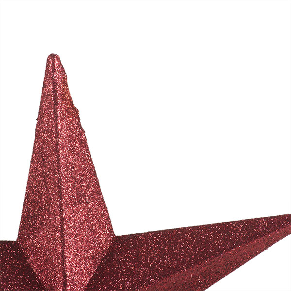 Burgundy Glitter Finish Tree Top Star -20cm