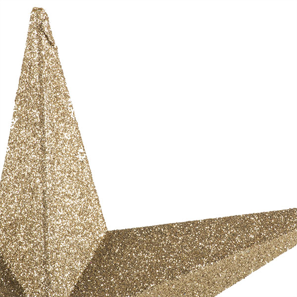 Champagne Gold Glitter Finish Tree Top Star -20cm