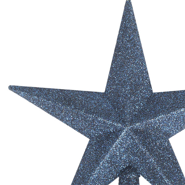 Midnight Blue Glitter Finish Tree Top Star -20cm