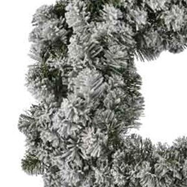 Snowy Artificial Imperial Wreath - 90cm