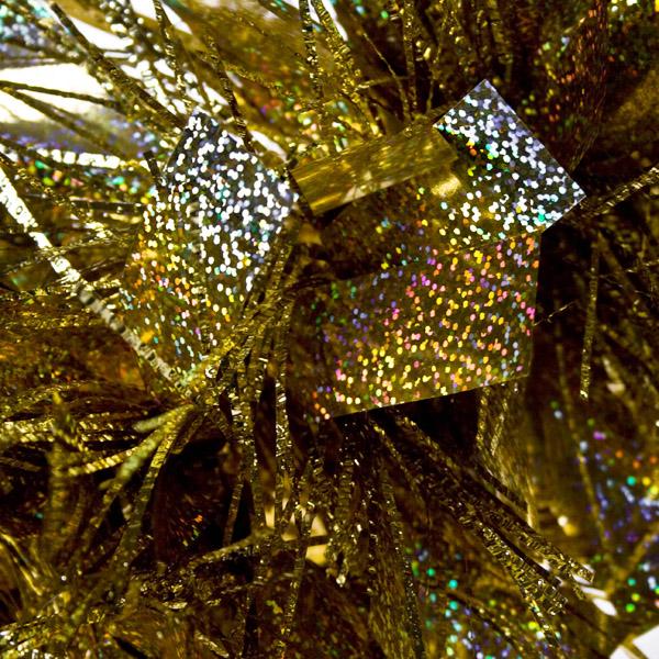 Holographic Giant Gold/Gold Laser Mix Luxury Rag Garland - 2.7m x 25cm