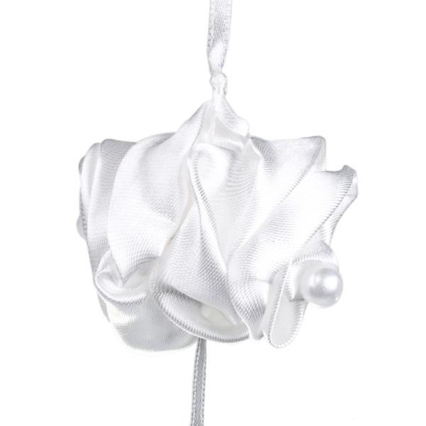 White Fabric Rose Garland - 180cm