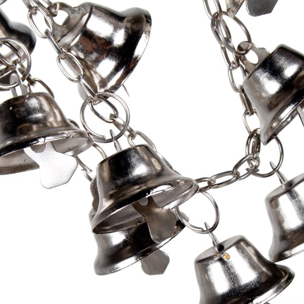 Metal Garland With Bright Silver Bells - 1m In Length