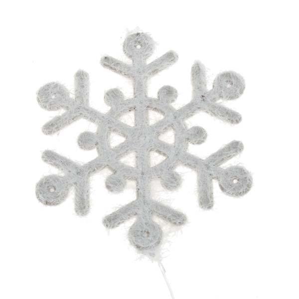 Dark Bark Star Garland With Snowflakes & Snowballs