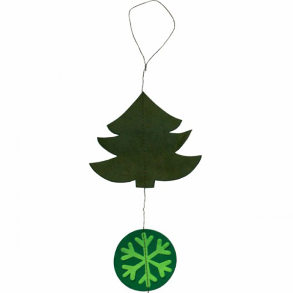 Handmade Christmas Decorations- Fairtrade Green Paper Garland With Snowman & Tree - 1.5m (031-19669-GR)