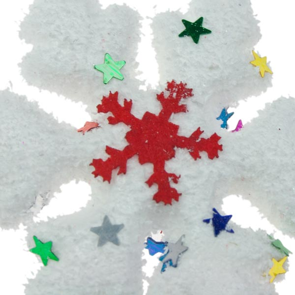 Red And White Snowflake Garland - 94cm
