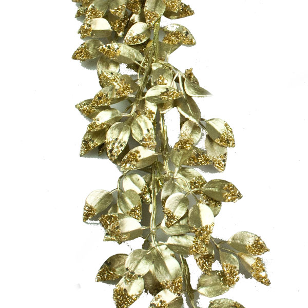 Gold Metallic Leaf Garland - 130cm