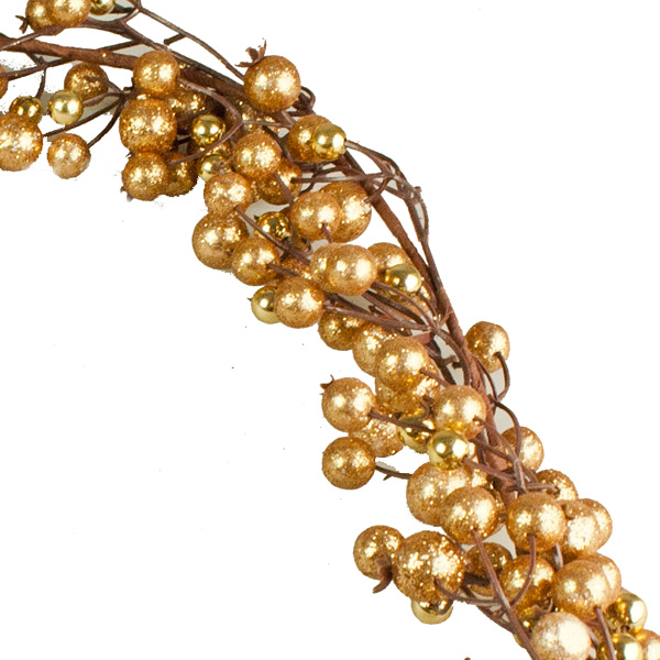 Almond Brown Berry Garland - 110cm