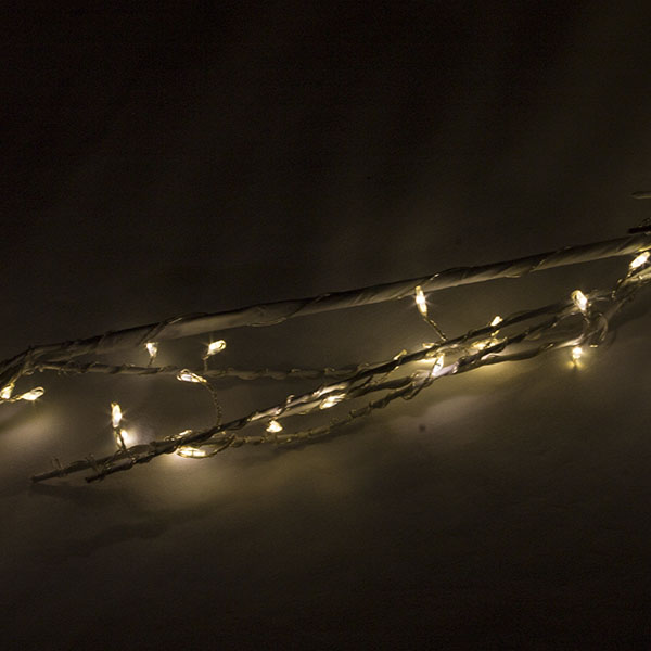Silver Twig Garland With 160 Warm White Micro LED's - 160cm
