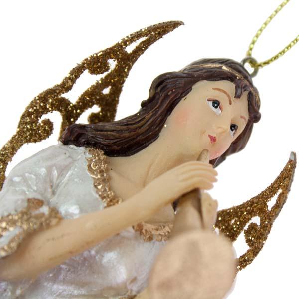 Gisela Graham Angel With Horn - 20cm