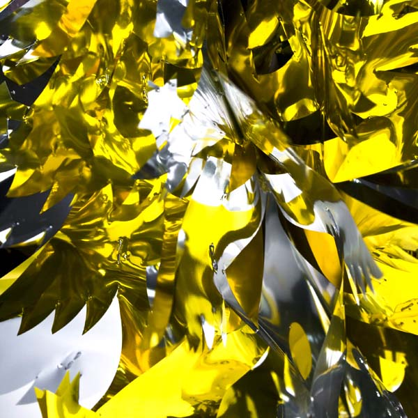 Gold/Silver Foil Hanging Tree Decoration - 40cm (16