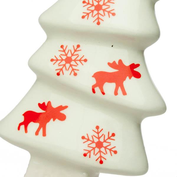 Nordic Ceramic Hanging Tree Decoration - 4cm