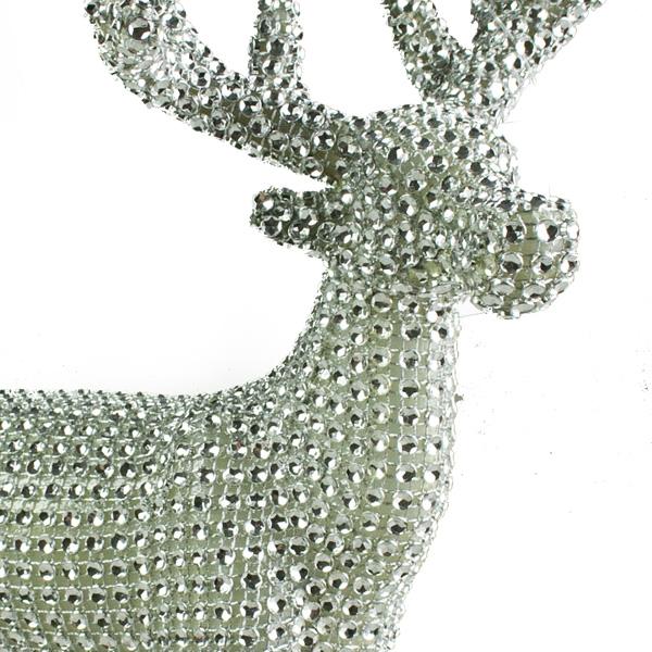 Gisela Graham Diamante Encrusted Standing Reindeer Ornament